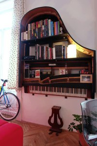 piano bookcase